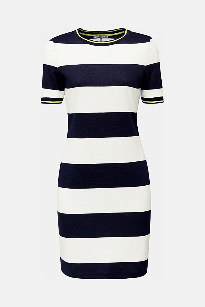 Striped piqué dress, NAVY, detail image number 6