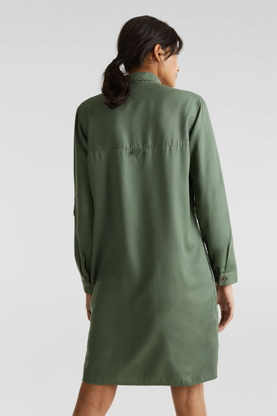 Dress in a utility look, KHAKI GREEN, detail image number 2