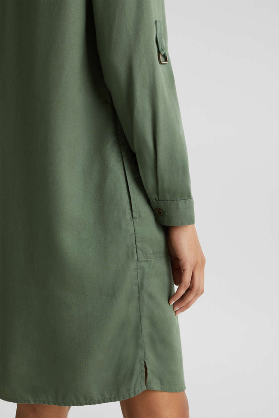 Dress in a utility look, KHAKI GREEN, detail image number 3