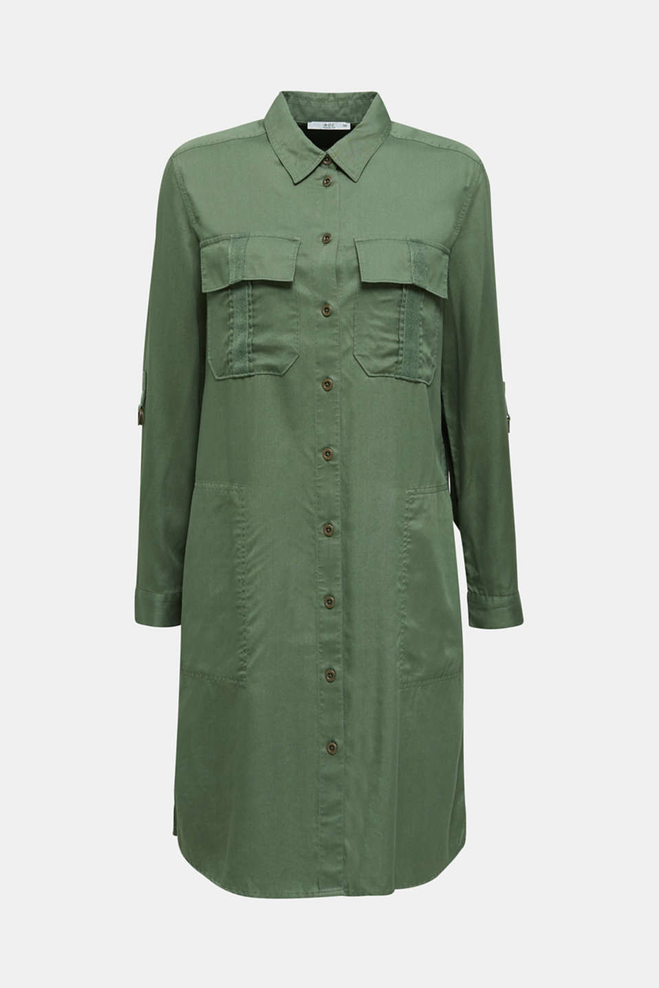 Dress in a utility look, KHAKI GREEN, detail image number 6