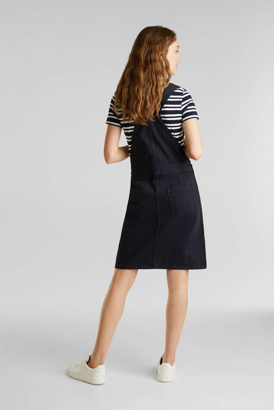 Dungaree skirt with breast pocket, BLACK, detail image number 3