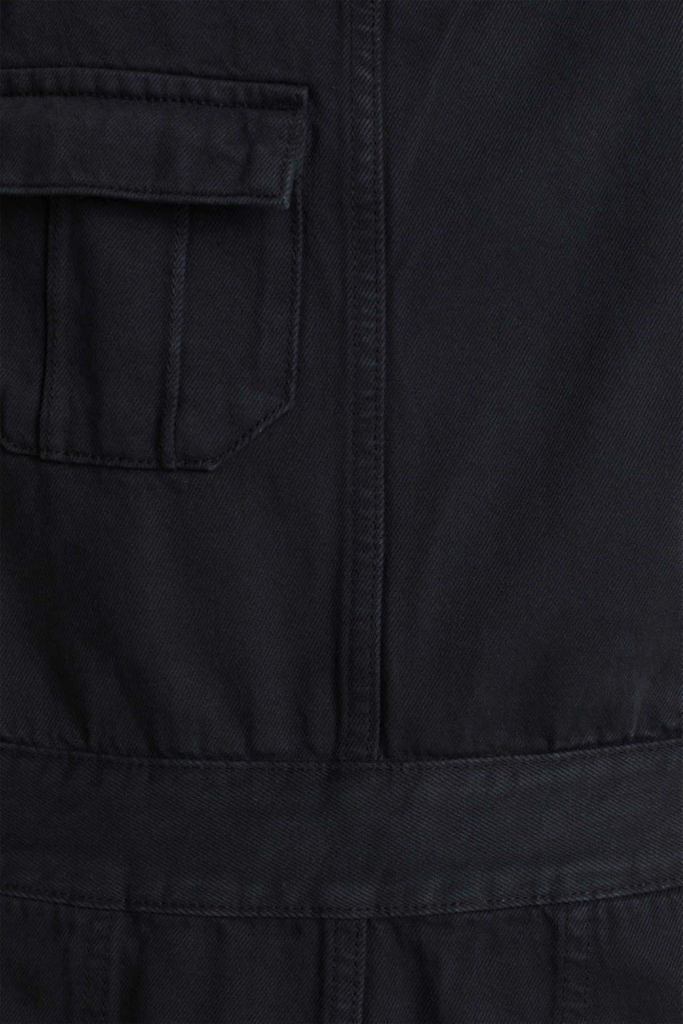 Dungaree skirt with breast pocket, BLACK, detail image number 4