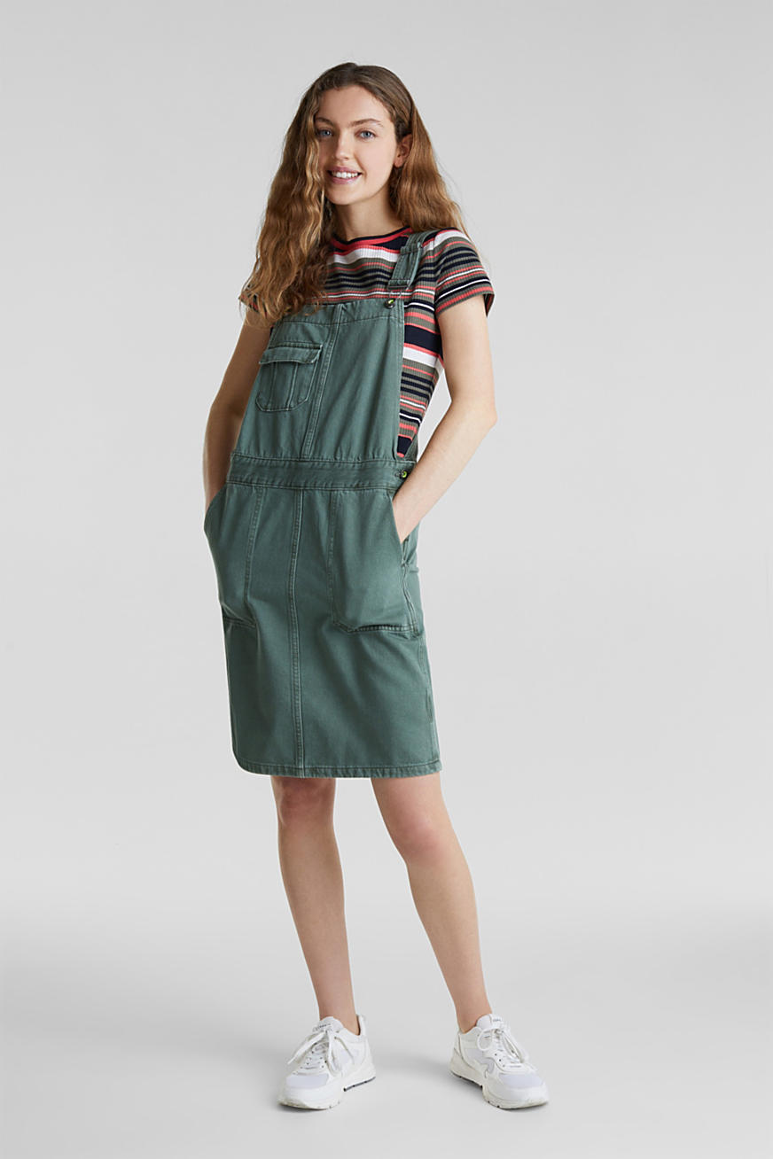 Dungaree skirt with breast pocket