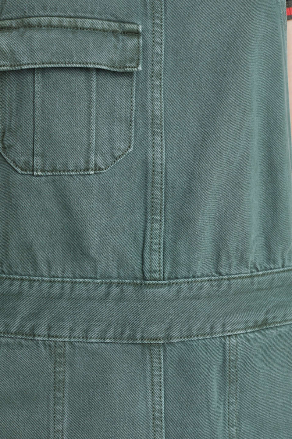 Dungaree skirt with breast pocket, KHAKI GREEN, detail image number 4