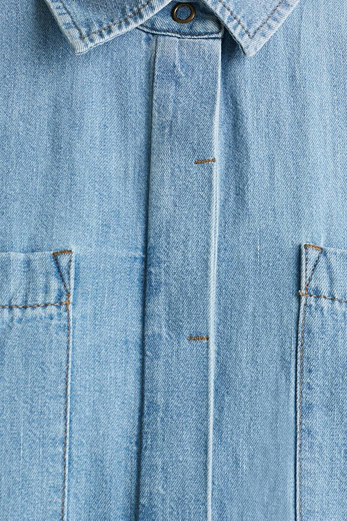 Kleid aus 100% Baumwolle, BLUE LIGHT WASHED, detail image number 4