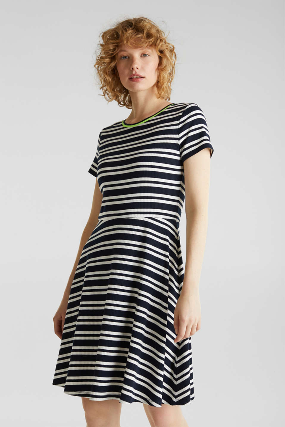 edc - Stretch jersey dress with a ribbed texture