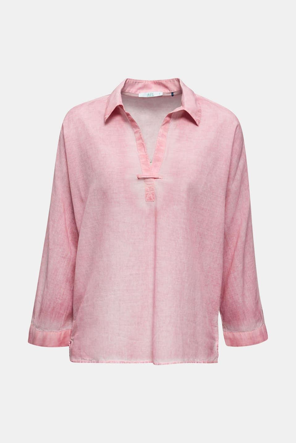 Batik blouse made of cotton, PINK, detail image number 6