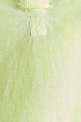Batik blouse made of cotton, LIME YELLOW, detail