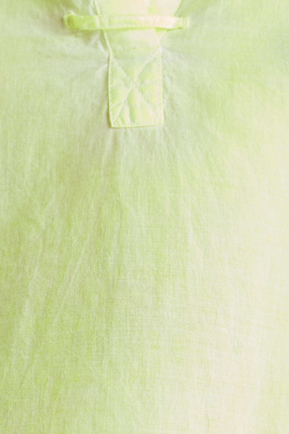 Batik blouse made of cotton, LIME YELLOW, detail image number 4