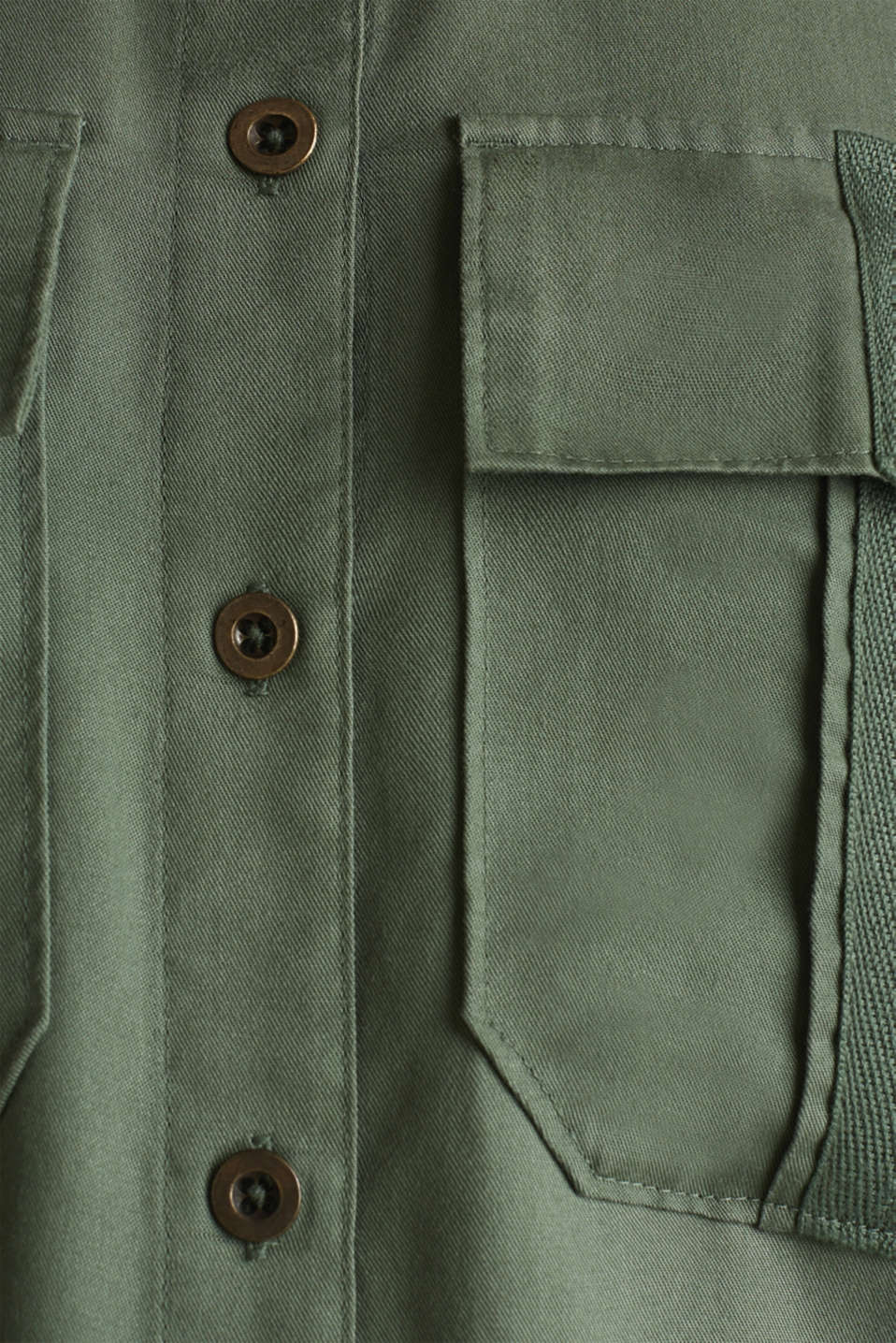 Utility-style blouse, 100% lyocell, KHAKI GREEN, detail image number 4