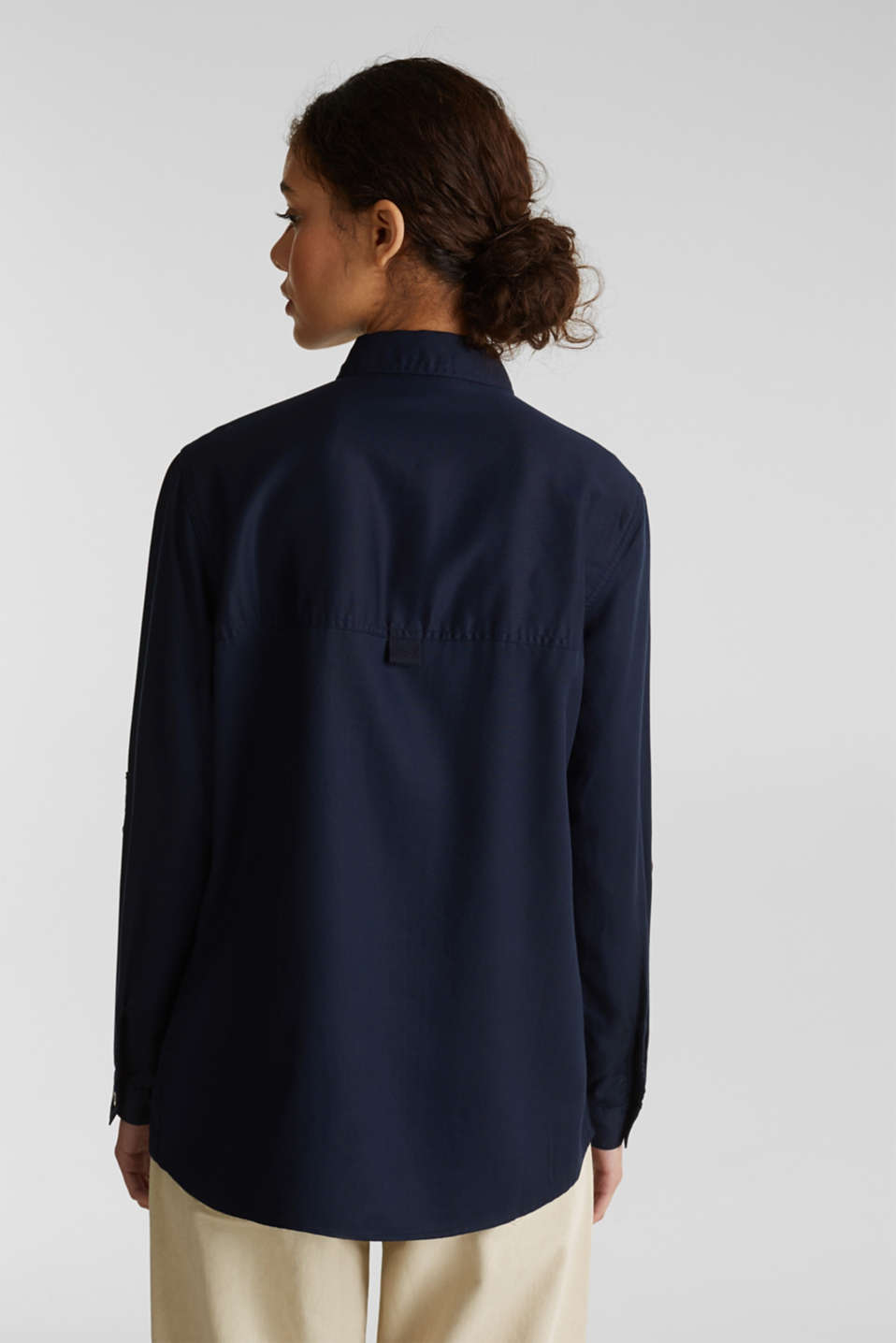 Utility-style blouse, 100% lyocell, NAVY, detail image number 3