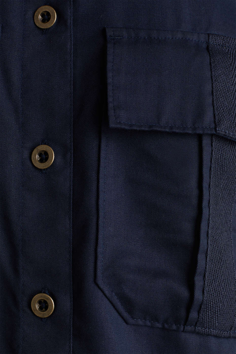 Utility-style blouse, 100% lyocell, NAVY, detail image number 4