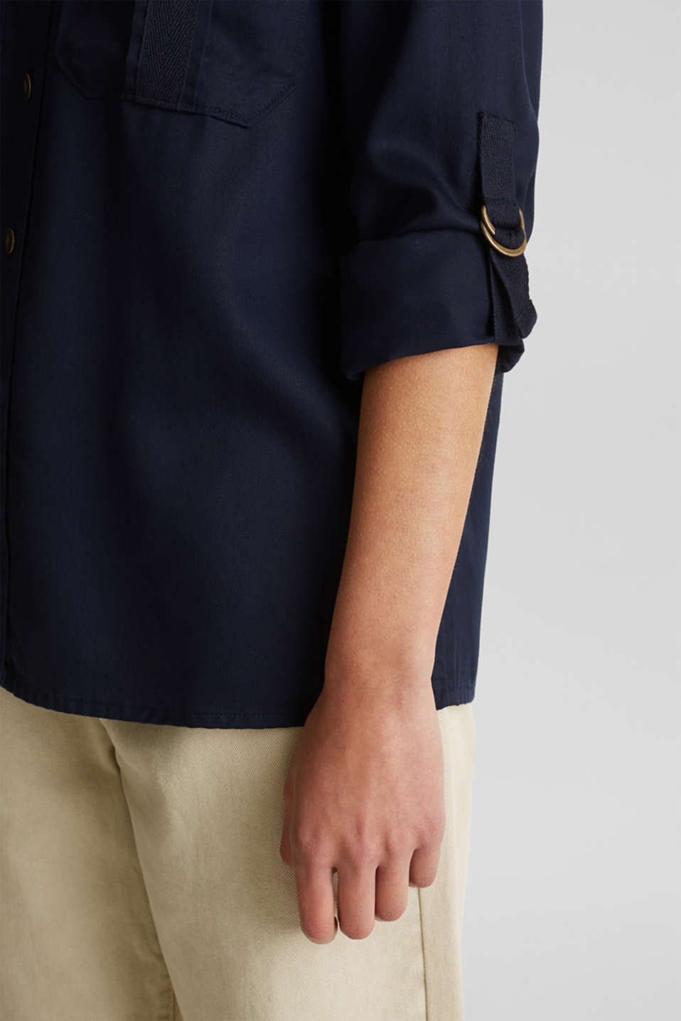 Utility-style blouse, 100% lyocell, NAVY, detail image number 5