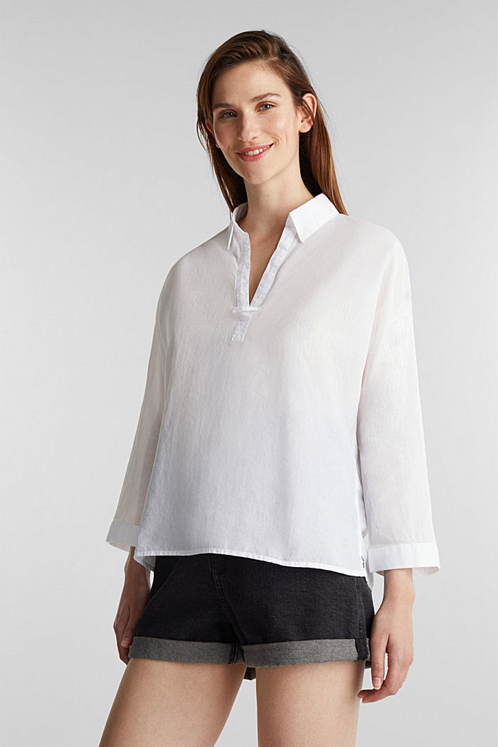 Shirt blouse made of cotton