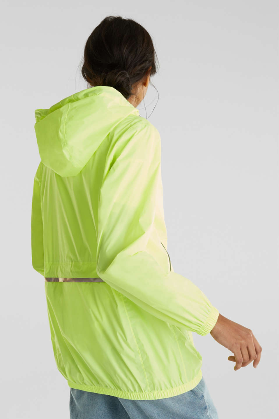 Practical windbreaker, LIME YELLOW, detail image number 3