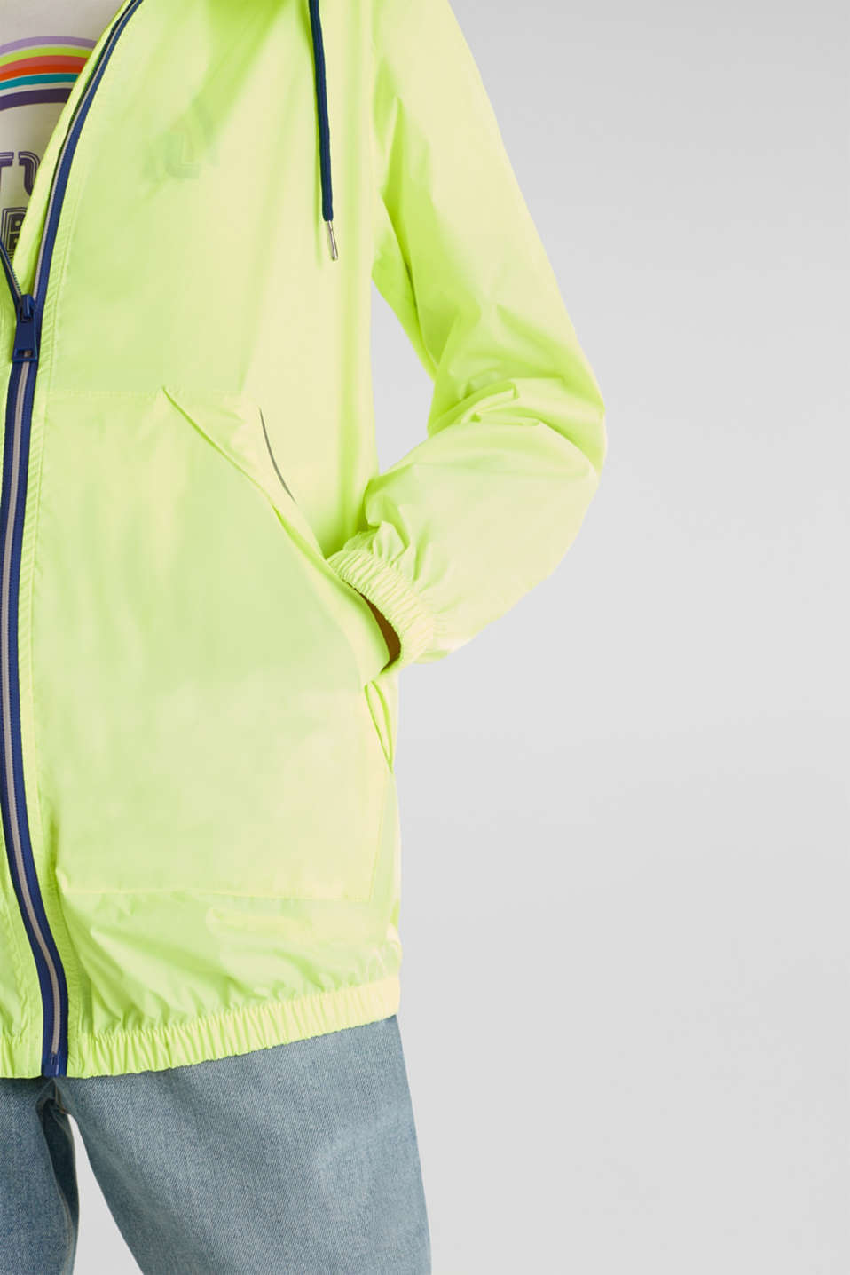 Practical windbreaker, LIME YELLOW, detail image number 2