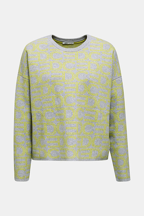 NEON compact boxy jumper with stretch