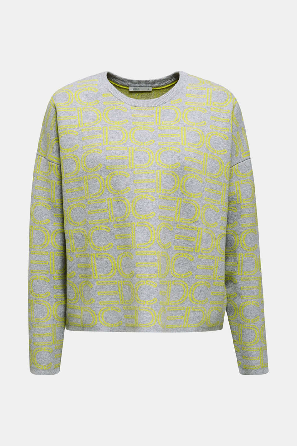 NEON compact boxy jumper with stretch, LIGHT GREY 4, detail image number 5