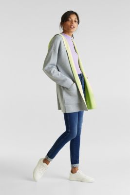 Reversible cardigan with a hood, LIGHT GREY 5, detail