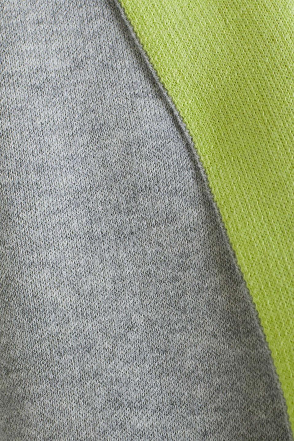 Reversible cardigan, LIGHT GREY 5, detail image number 3