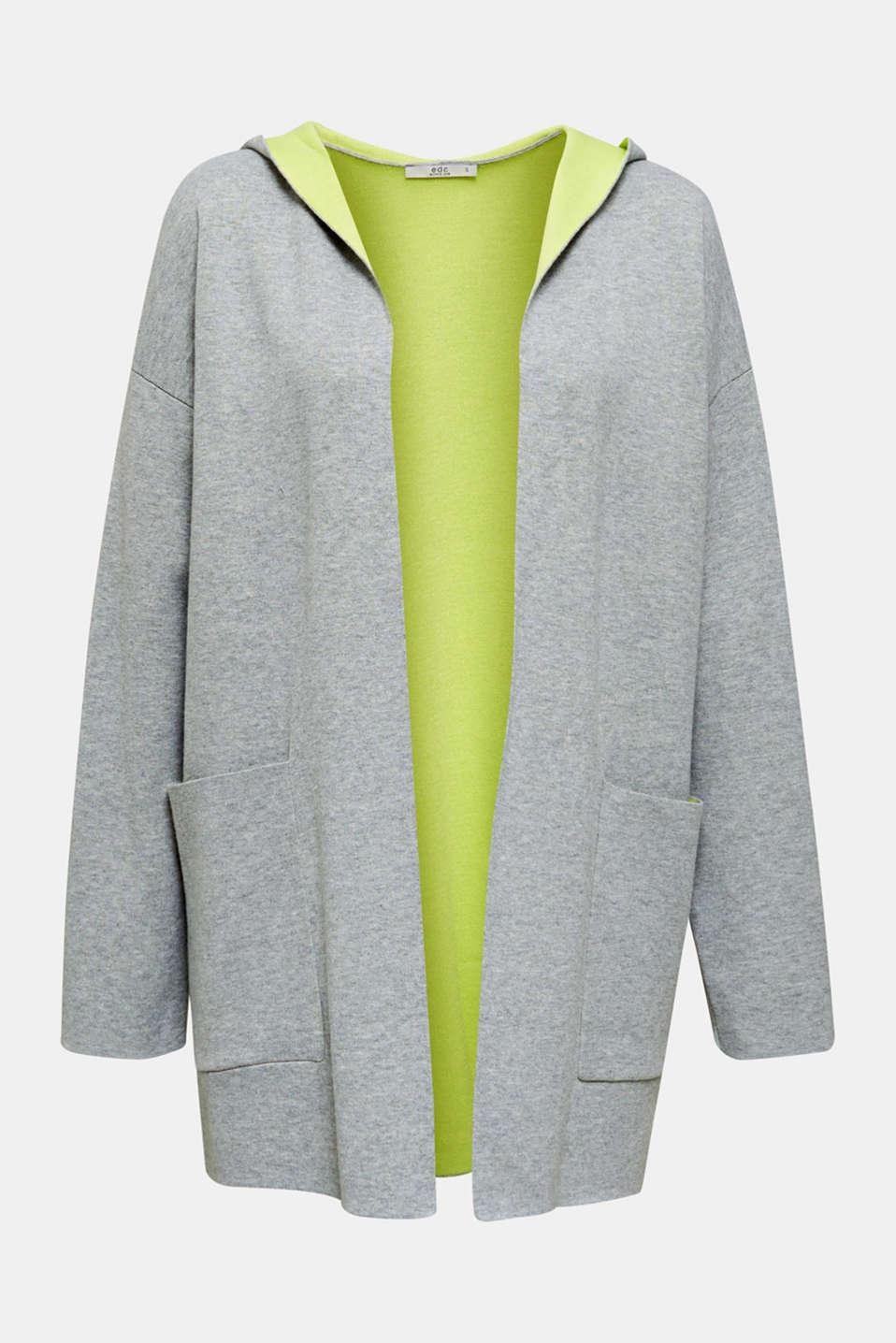Reversible cardigan, LIGHT GREY 5, detail image number 7
