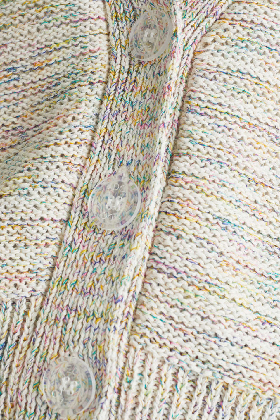 Boxy cardigan in a multi-coloured look, OFF WHITE 2, detail image number 4