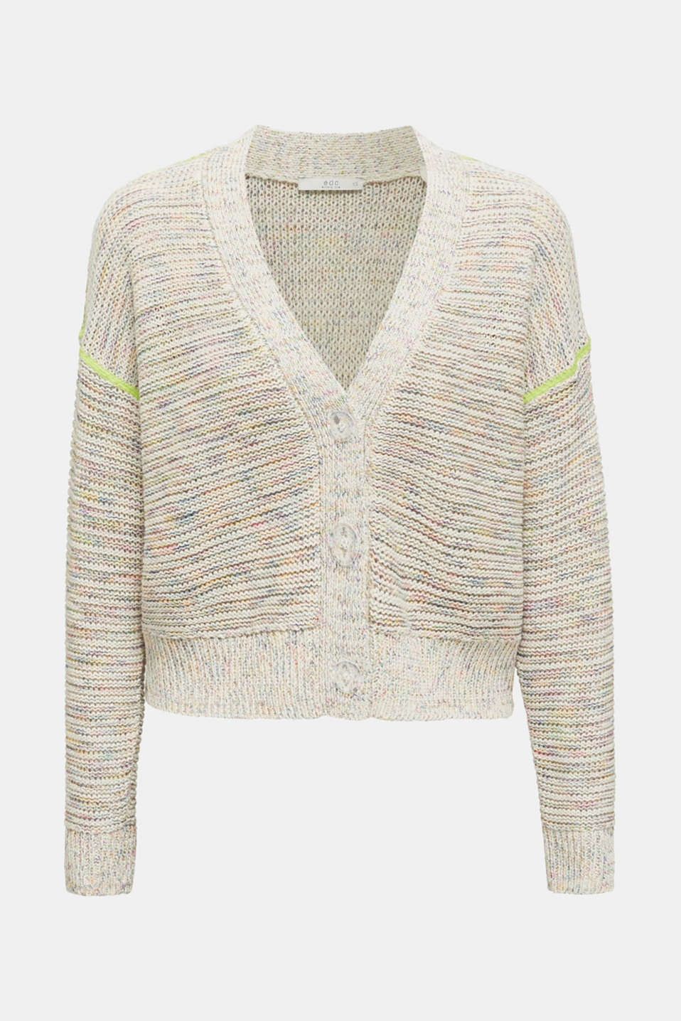 Multi-coloured cardigan, OFF WHITE 2, detail image number 8