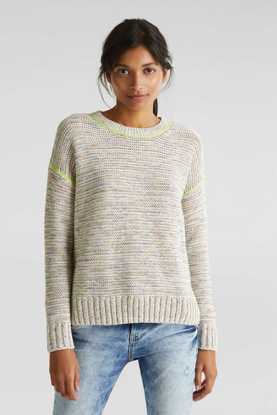 Textured multi-colour jumper, OFF WHITE 2, detail image number 0