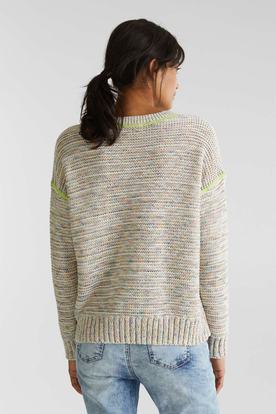 Textured multi-colour jumper, OFF WHITE 2, detail image number 3