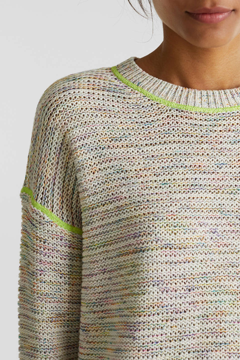 Textured multi-colour jumper, OFF WHITE 2, detail image number 2