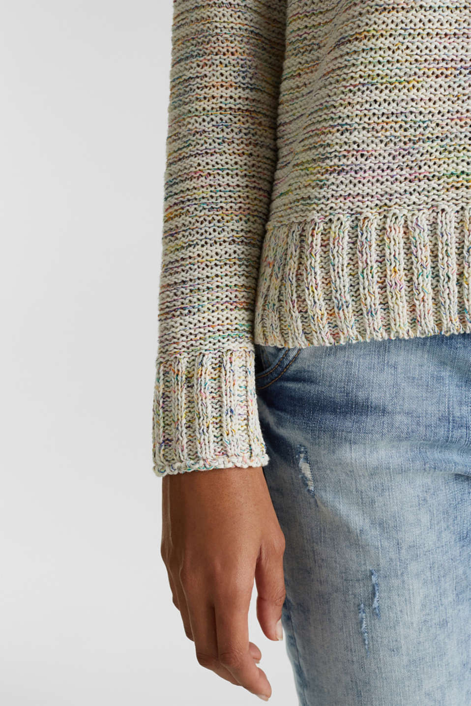 Textured multi-colour jumper, OFF WHITE 2, detail image number 5