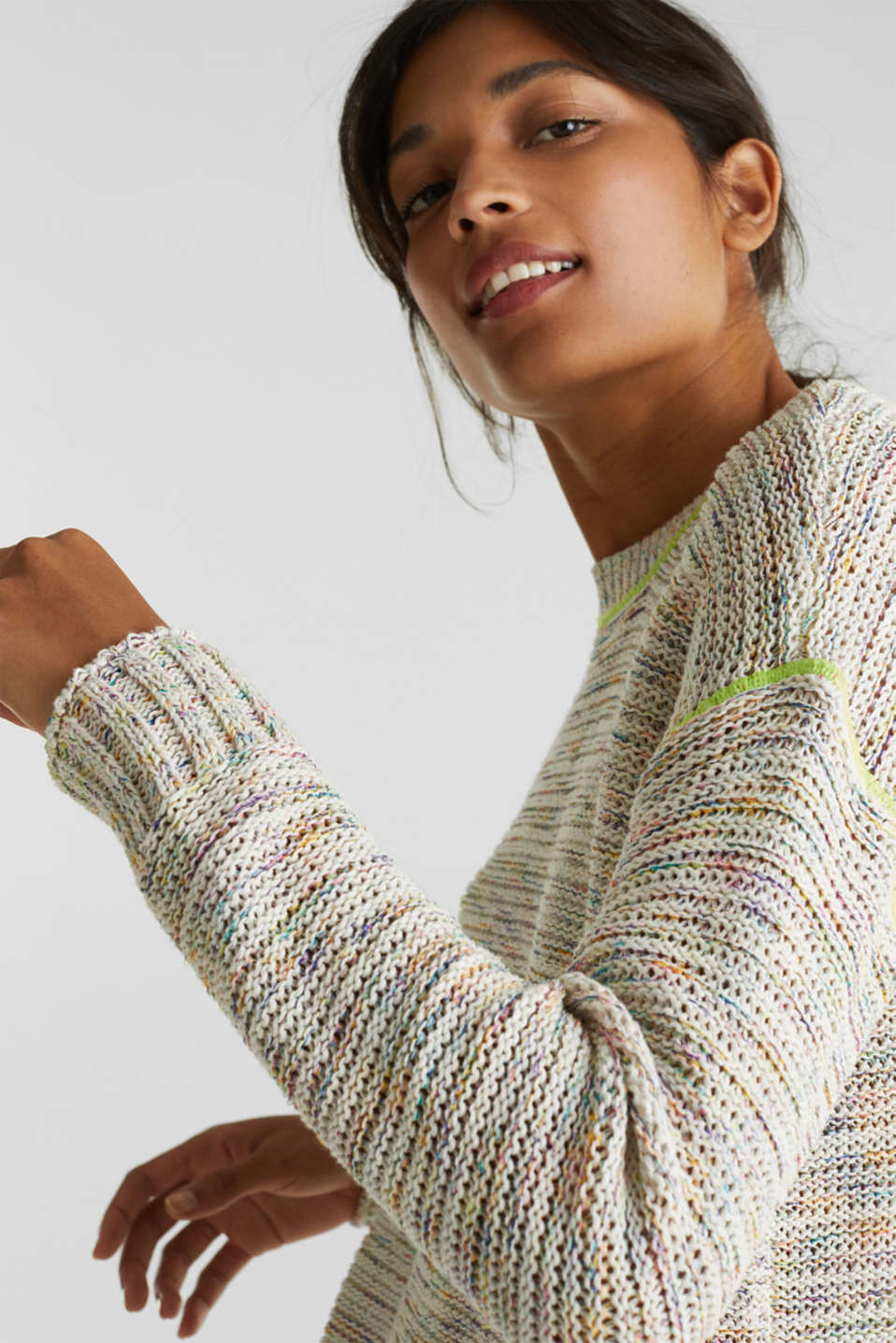 Textured multi-colour jumper, OFF WHITE 2, detail image number 6