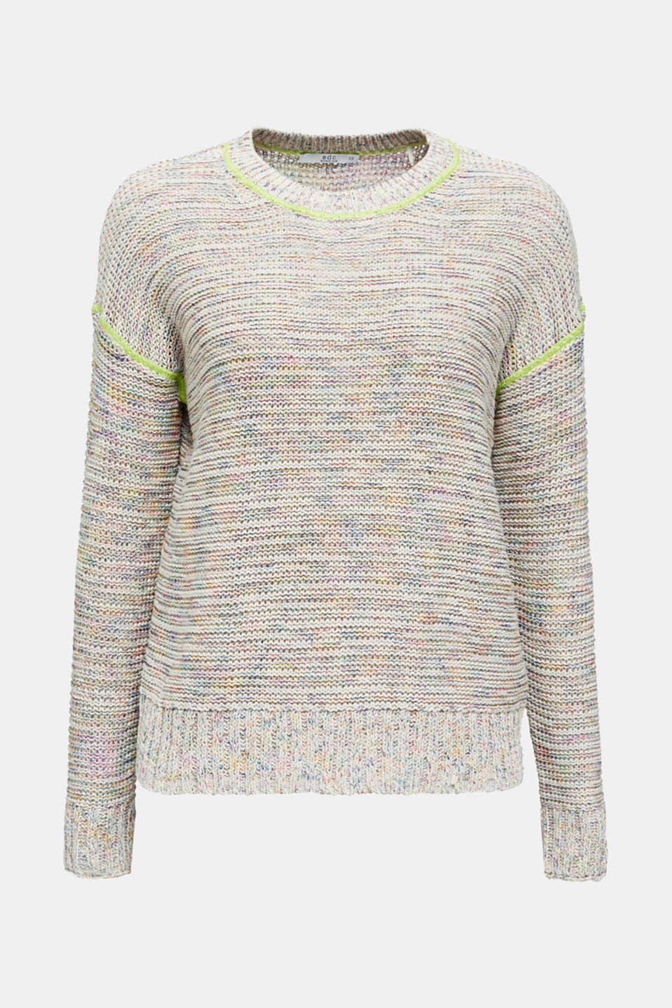 Textured multi-colour jumper, OFF WHITE 2, detail image number 7