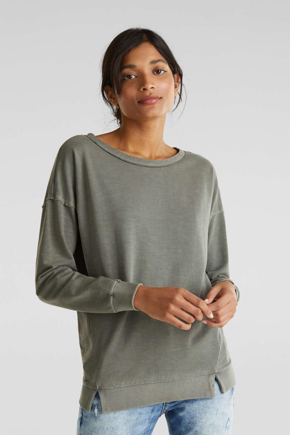 Vintage sweatshirt, KHAKI GREEN, detail image number 0