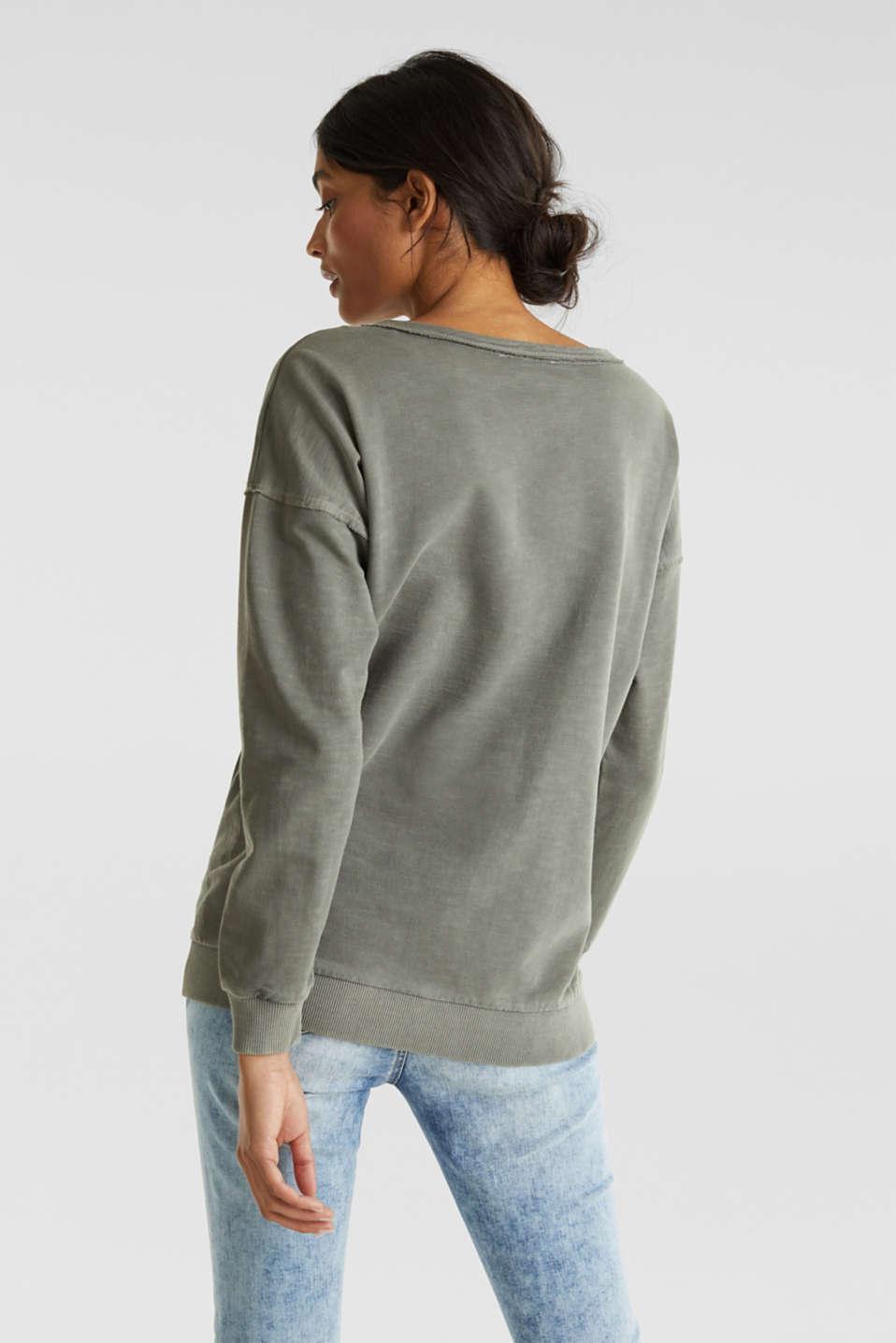 Vintage sweatshirt, KHAKI GREEN, detail image number 3