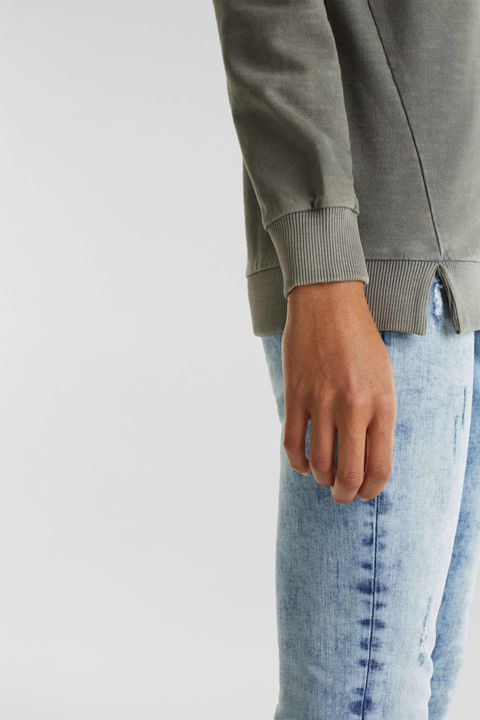 Vintage sweatshirt, KHAKI GREEN, detail image number 2