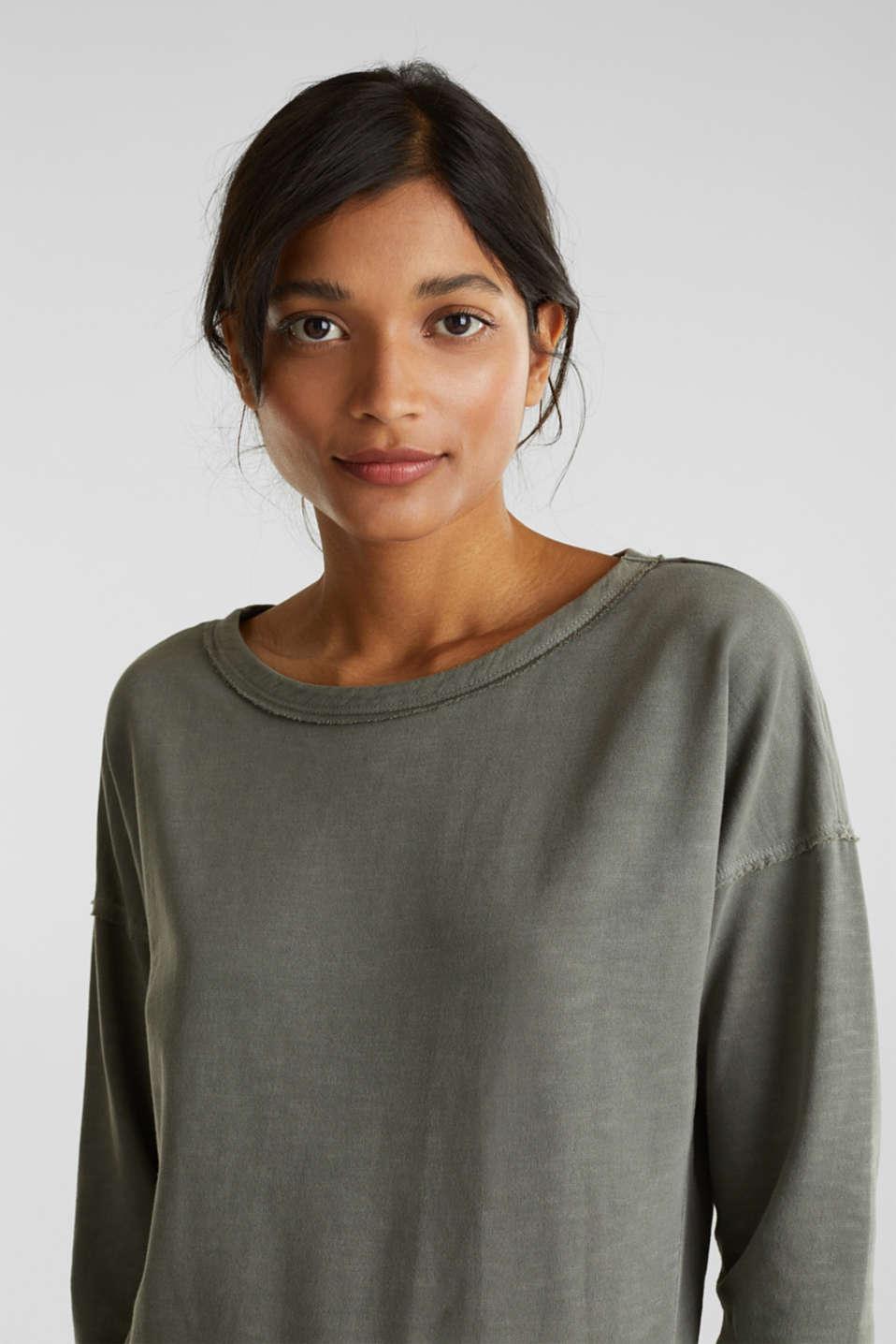 Vintage sweatshirt, KHAKI GREEN, detail image number 5