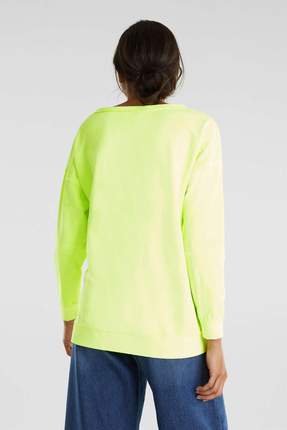 Vintage sweatshirt, LIME YELLOW, detail image number 2