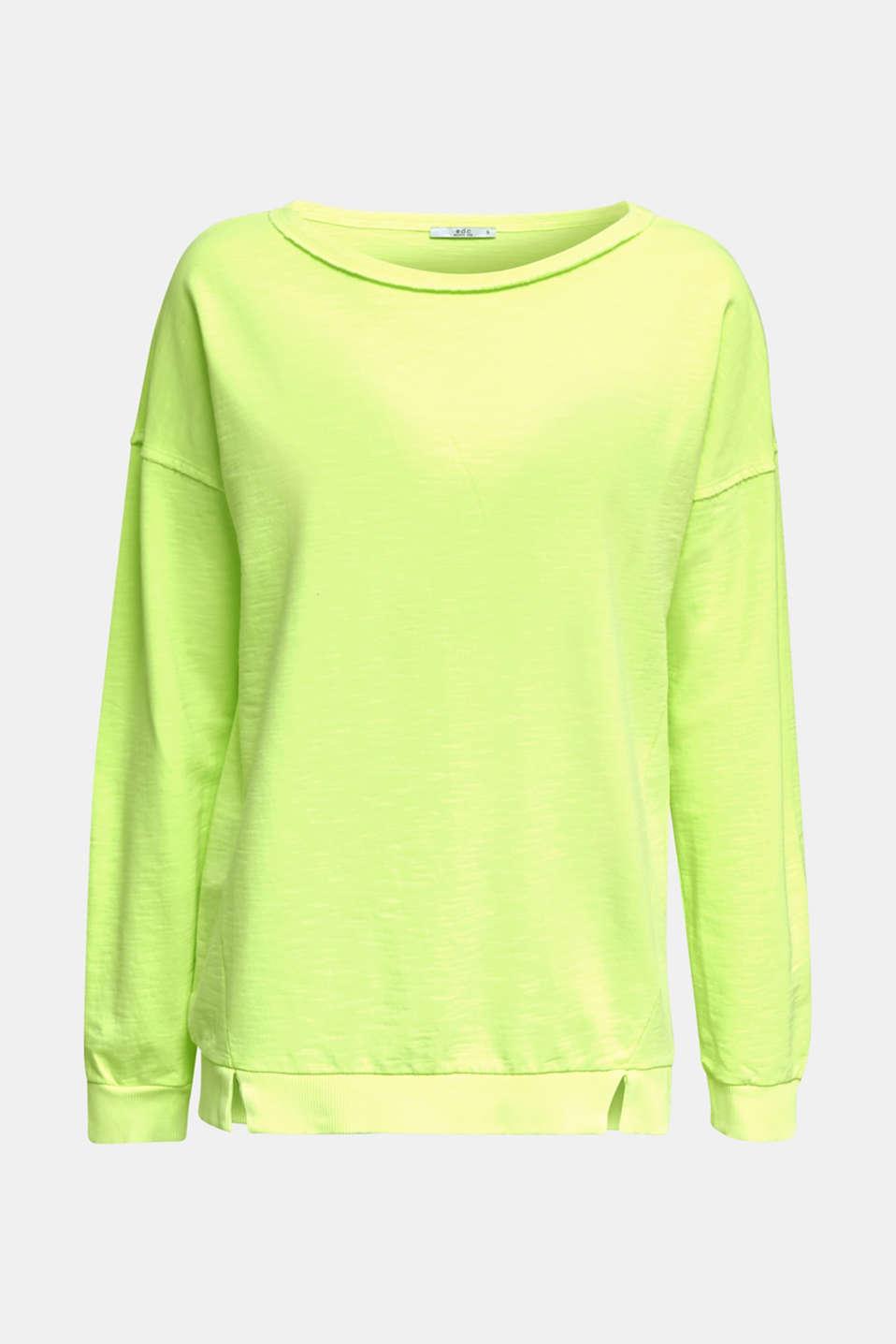 Vintage sweatshirt, LIME YELLOW, detail image number 5
