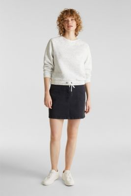 Boxy sweatshirt with a dimpled texture, LIGHT GREY 5, detail