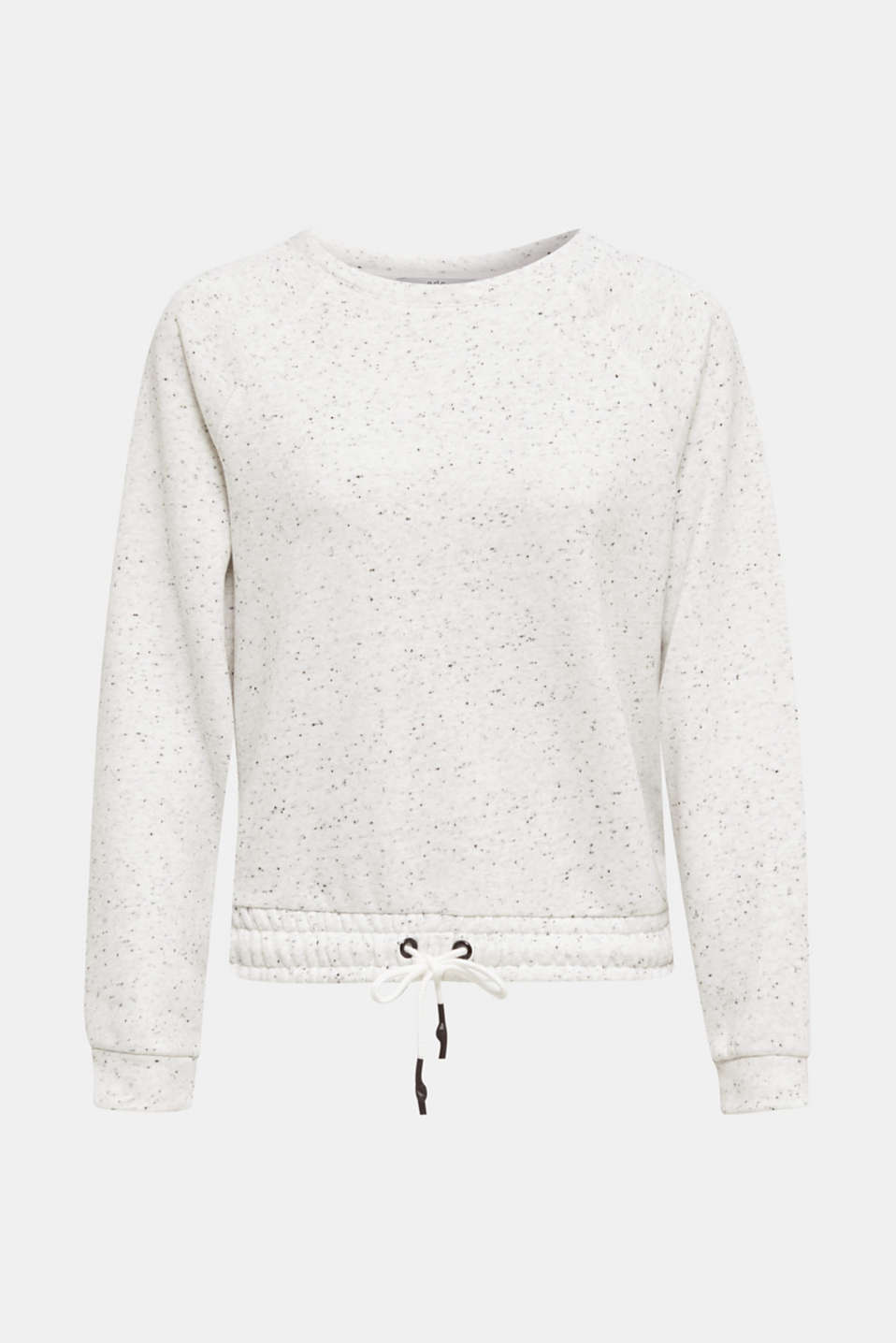 Boxy sweatshirt with a dimpled texture, LIGHT GREY 5, detail image number 7