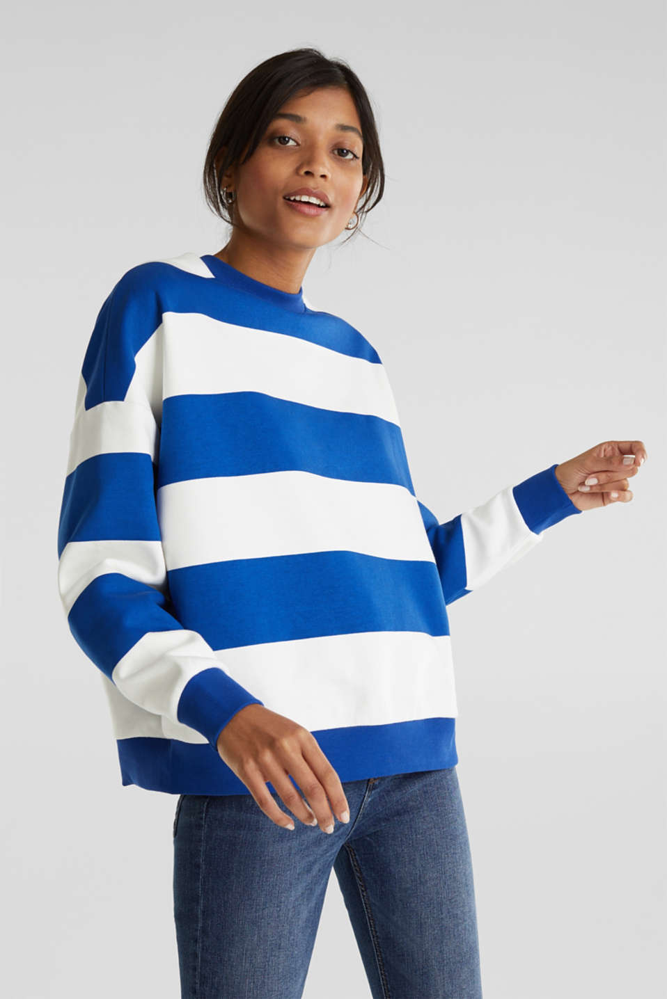 Oversized sweatshirt, BRIGHT BLUE, detail image number 0