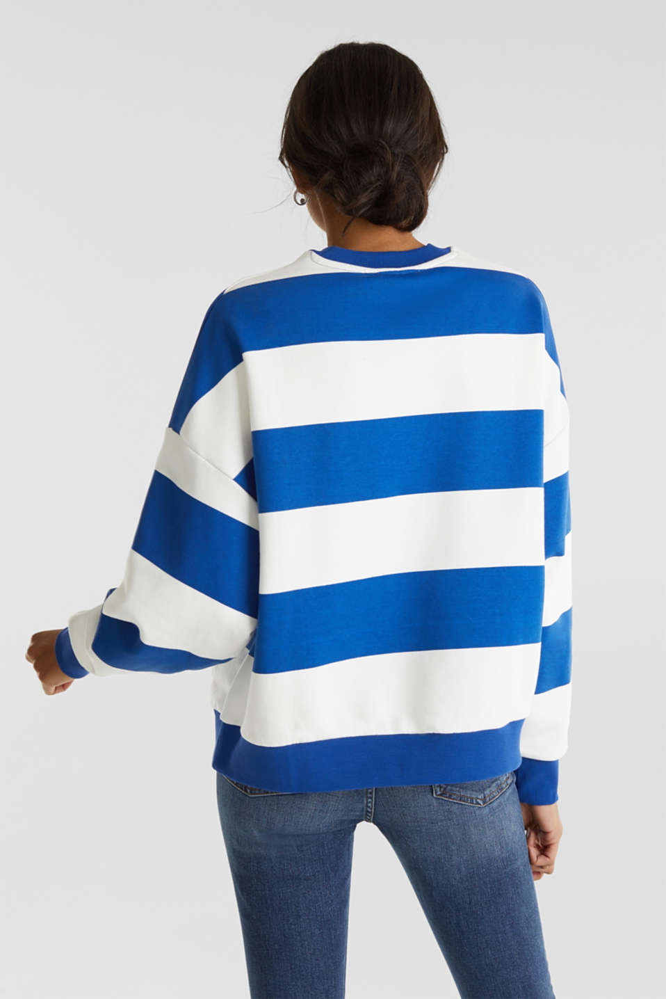 Oversized sweatshirt, BRIGHT BLUE, detail image number 3