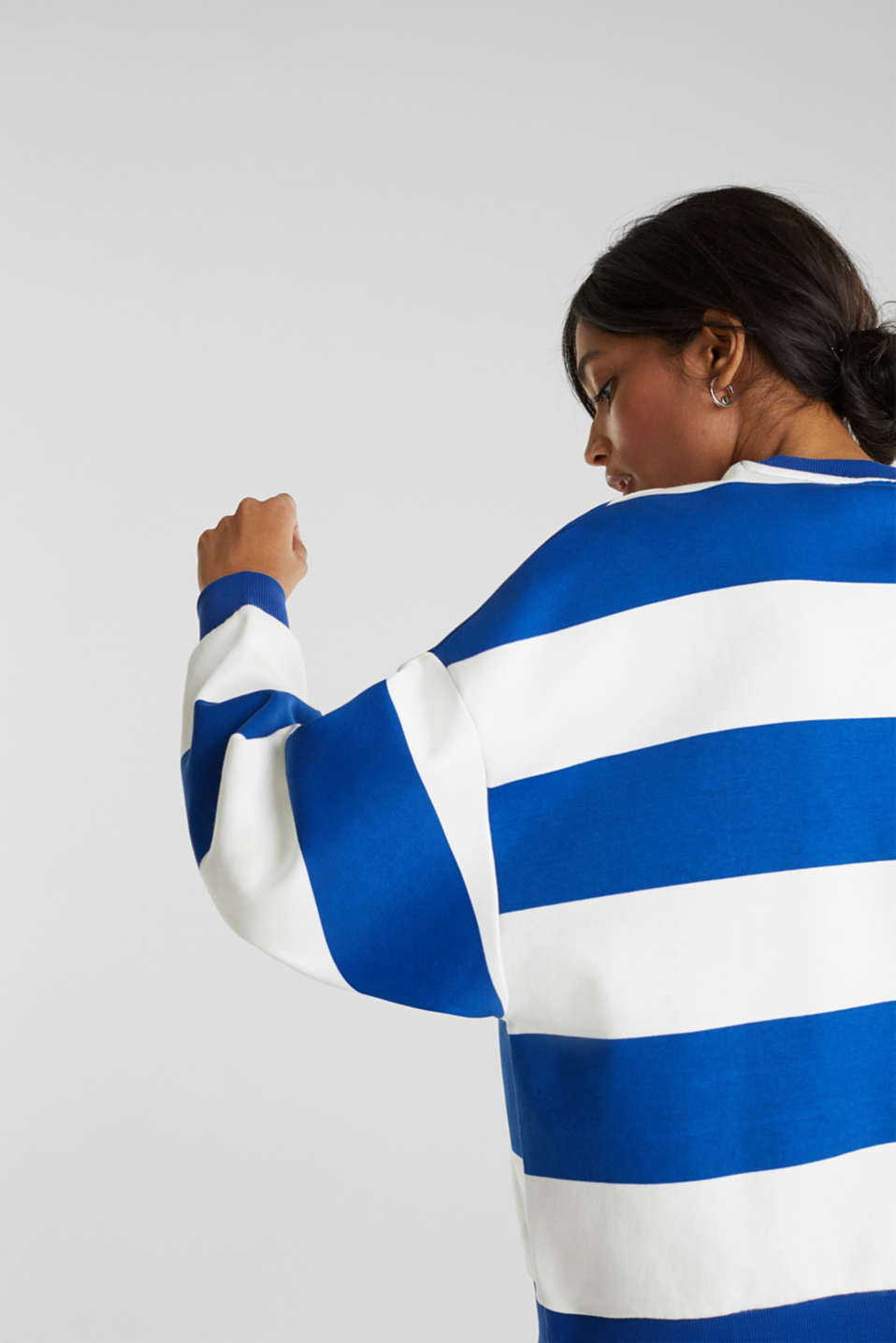 Oversized sweatshirt, BRIGHT BLUE, detail image number 2