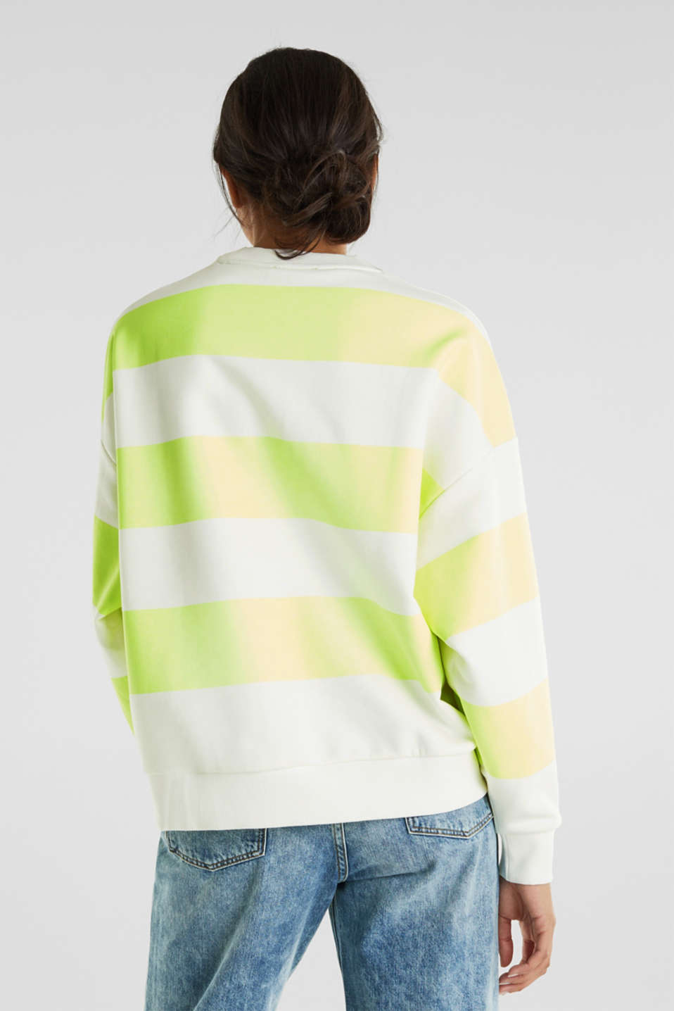 Oversized sweatshirt, LIME YELLOW, detail image number 3