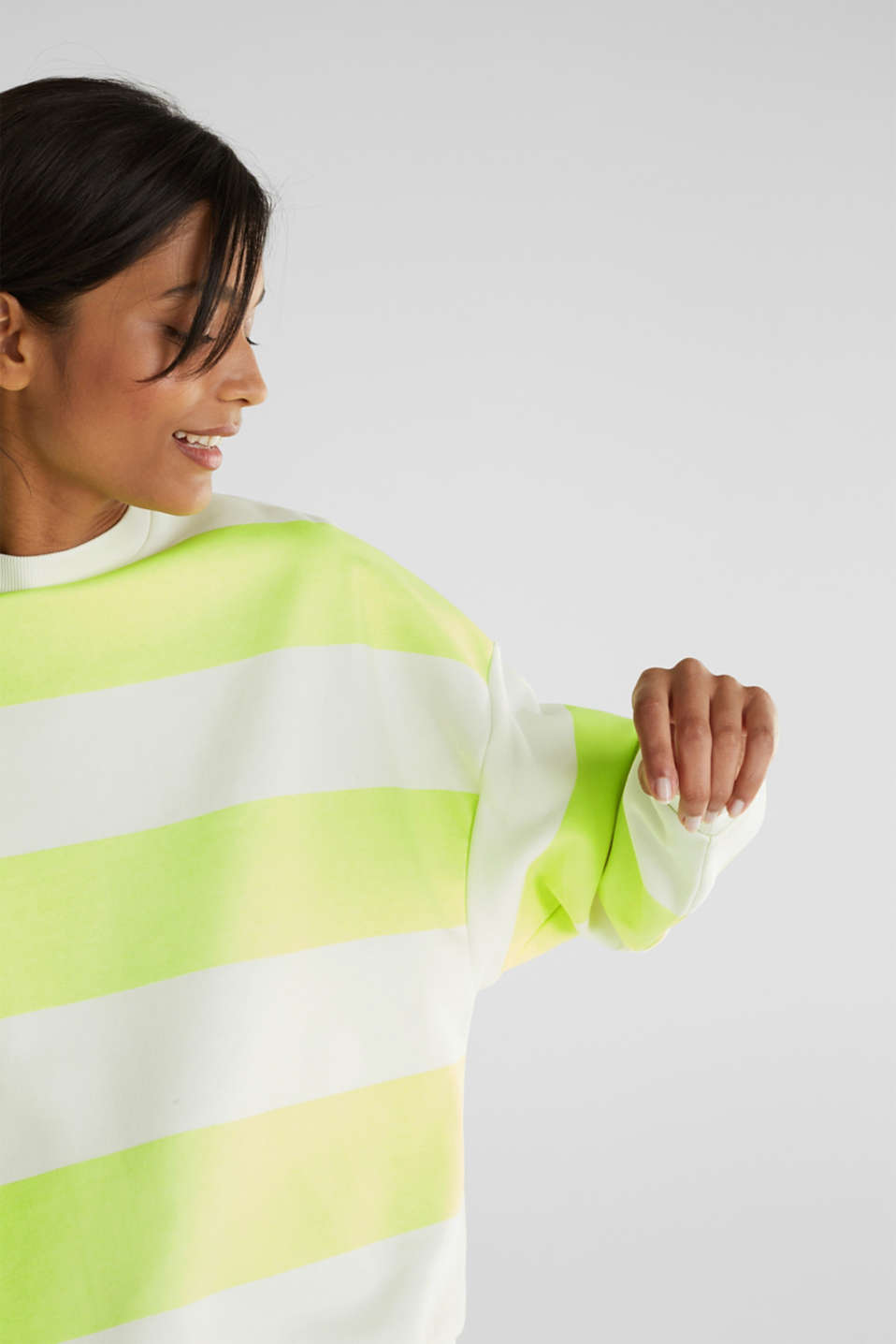 Oversized sweatshirt, LIME YELLOW, detail image number 2