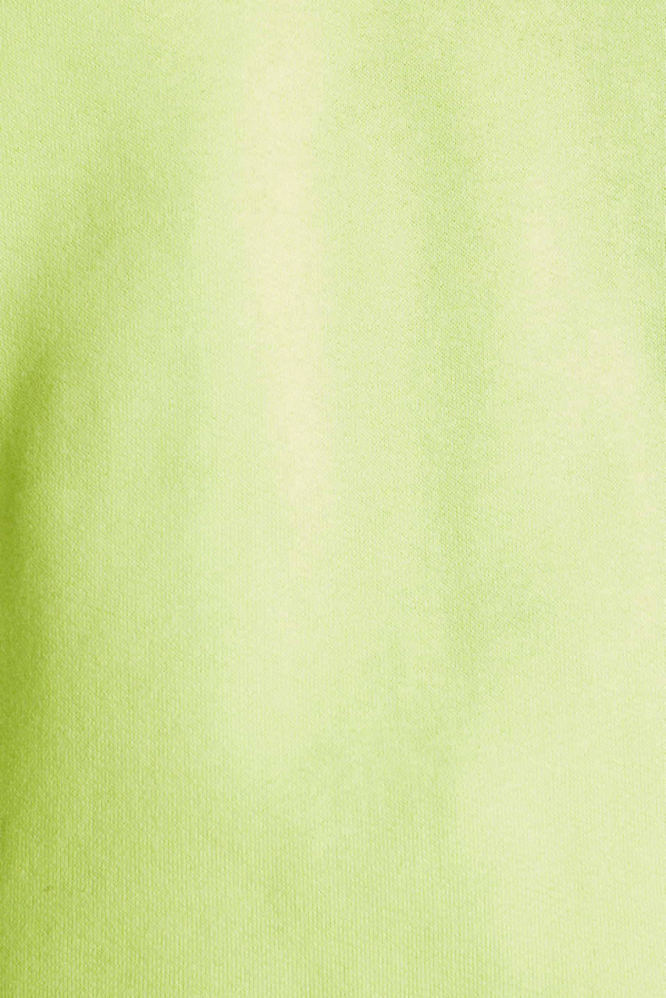 NEON boxy sweatshirt with a hood, 100% cotton, LIME YELLOW, detail image number 4