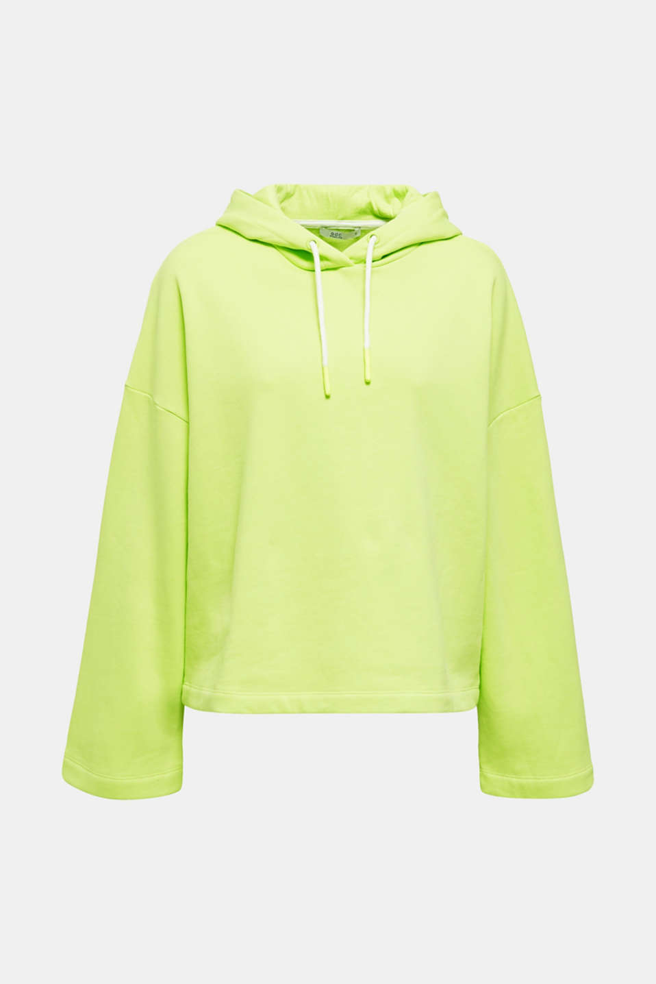 NEON boxy sweatshirt with a hood, 100% cotton, LIME YELLOW, detail image number 6