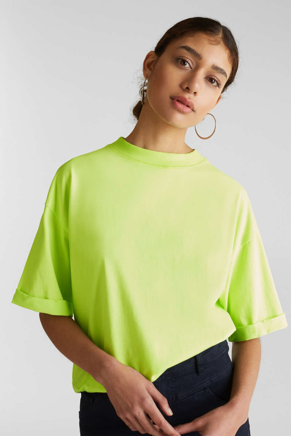 edc - NEON top with wide sleeves, 100% cotton