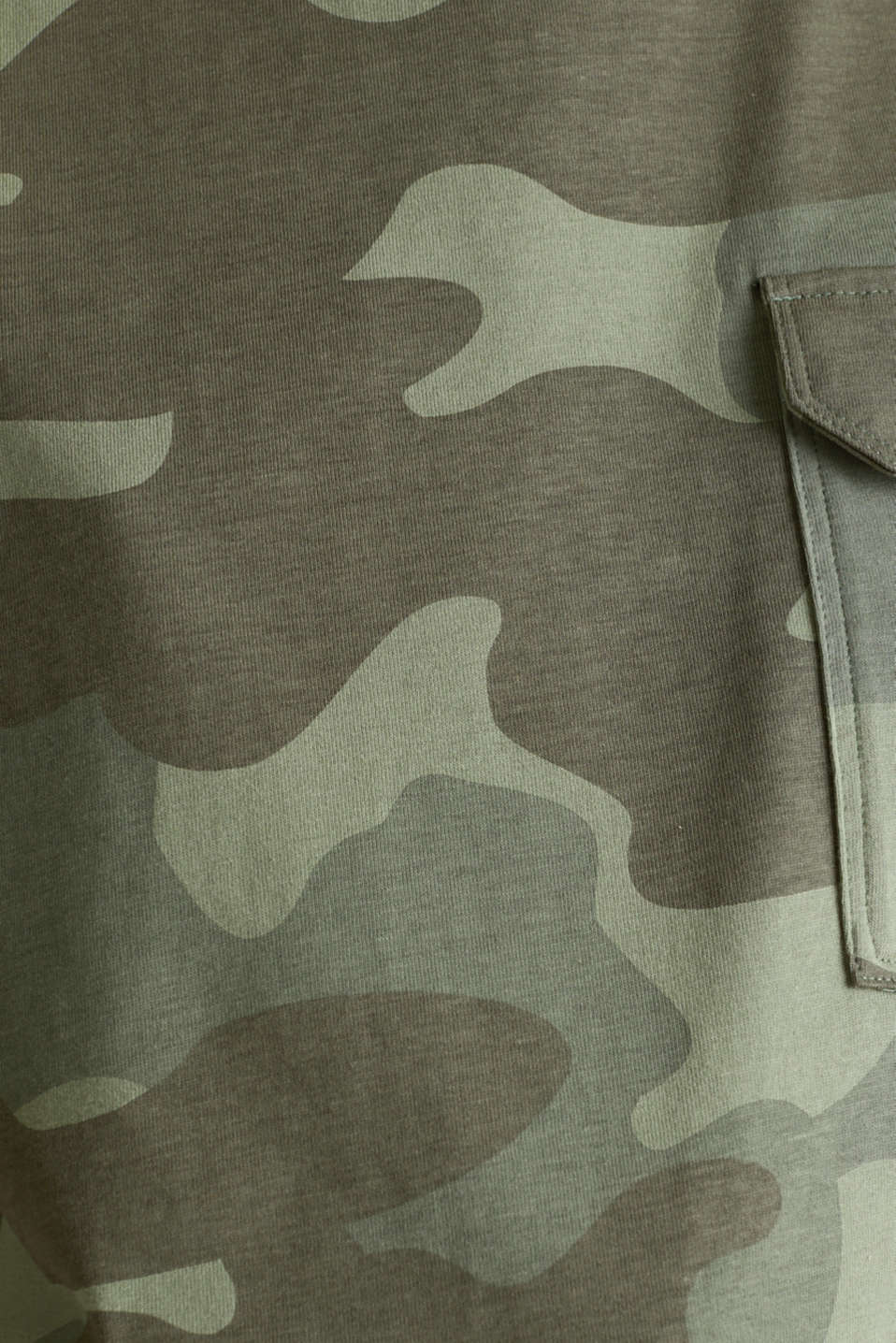 T-shirt with camouflage print, 100% cotton, KHAKI GREEN, detail image number 4